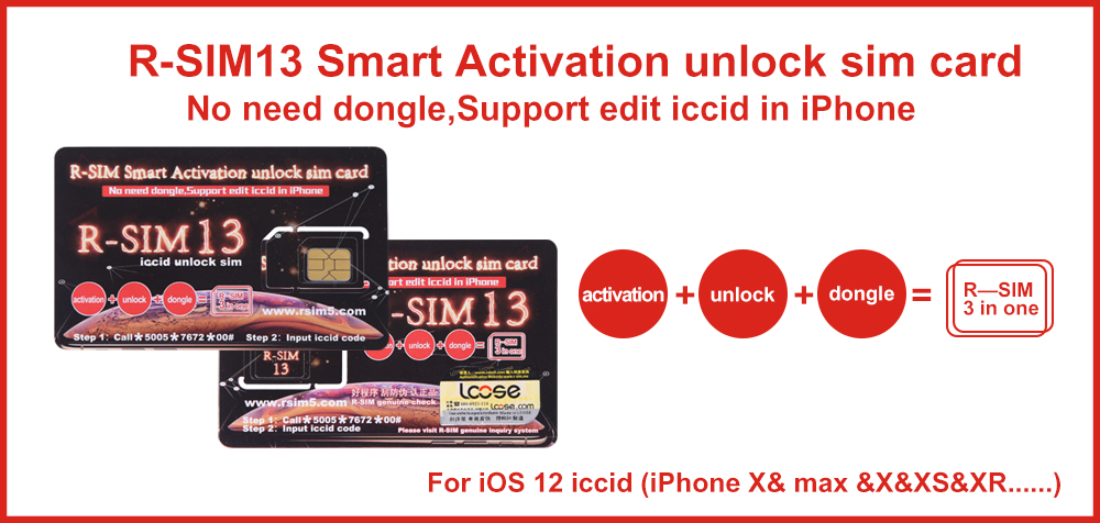 R-SIM13 smart activation unlock sim card for all iphone released