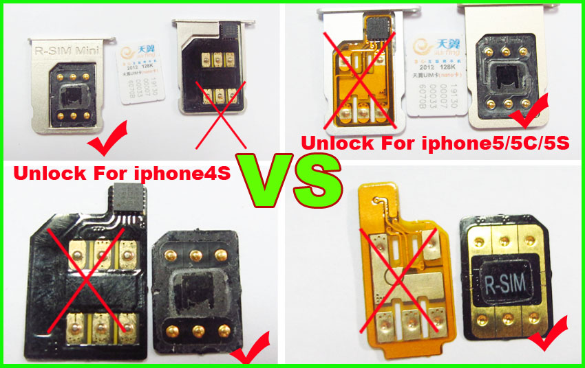 The operating Steps of R-SIM Mini2 unlock iOS7 1-7 X 5/5C/5S R-SIM14